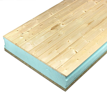 Panel Sandwich de madera friso de abeto